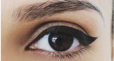 Tutorial Cat Eye dengan Eyeliner