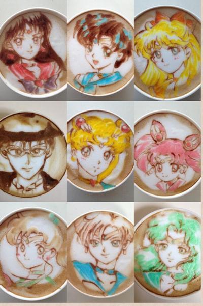 Coloured Latte Art
