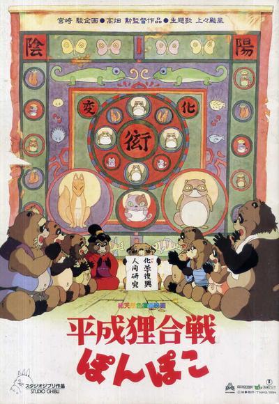 5. Pom Poko (Heisei Tanuki Gassen Ponpoko)