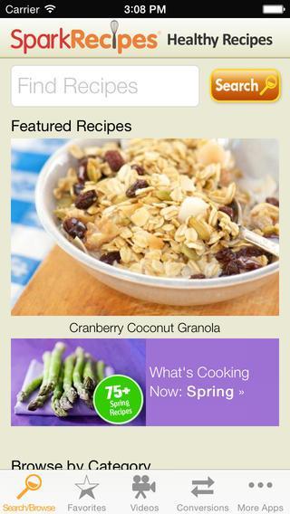 Healthy Recipes by SparkRecipes