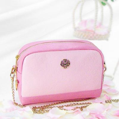 Pink Leather Pochette