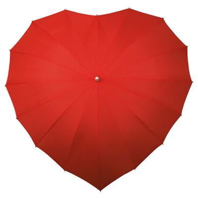 1. Cintai Hari-Harimu dengan Payung Berbentuk Lambang Cinta Ini.