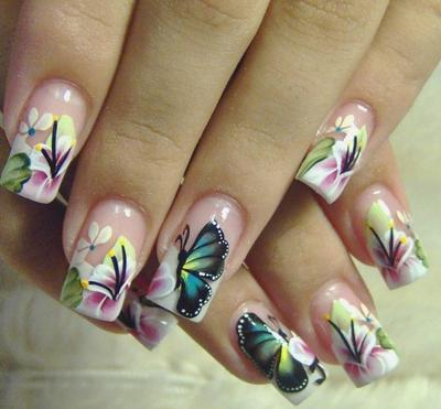 24 Kreasi Nail Art Kupu-Kupu (Part 1)