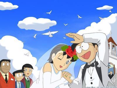 3. Bukan Nobita yang melamar, tapi Shizuka