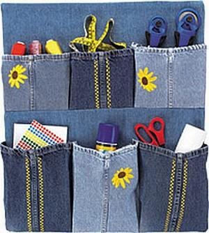 3. Denim Wall Organizer