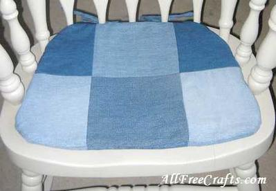 8. Chair Pad Denim