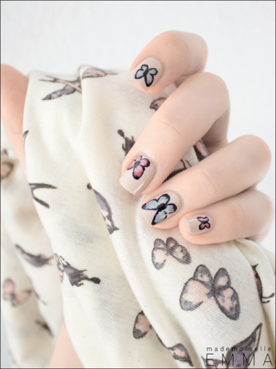 24 Kreasi Nail Art Kupu-Kupu (Part 3)