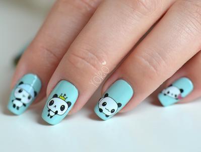 24 Kreasi Nail Art Panda (Part 3)