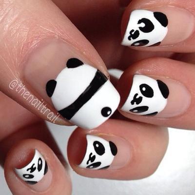 24 Kreasi Nail Art Panda Part 1 Life Beautynesia