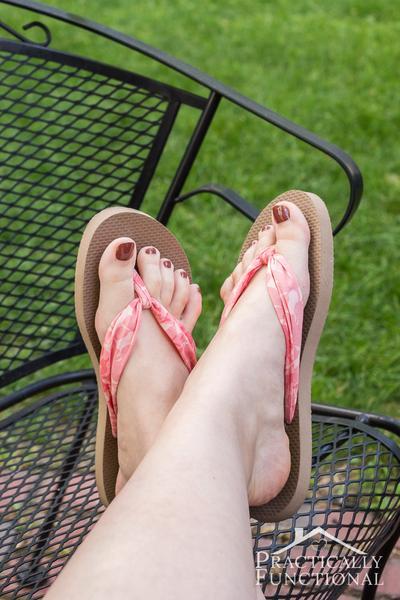 1. Fabric Flip Flops