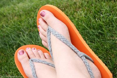 6. Braided Straps Flip Flops