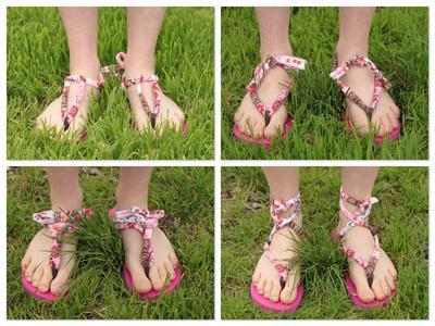 7. Changeable Straps Flip Flops