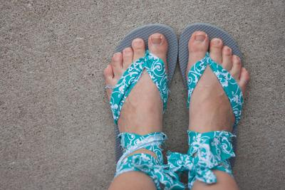 12. Upcycled Flip Flops