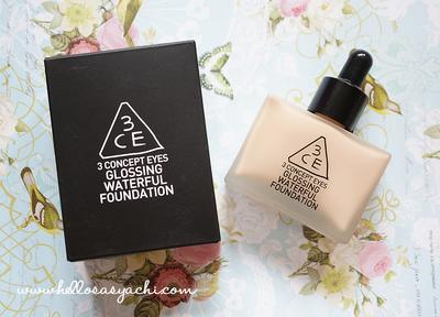 3CE's Glossing Waterful Foundation (Review)
