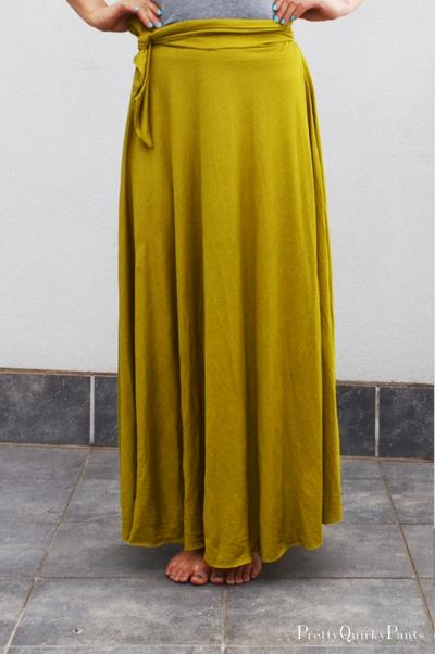 DIY Half Circle Maxi Skirt + Tie Waist