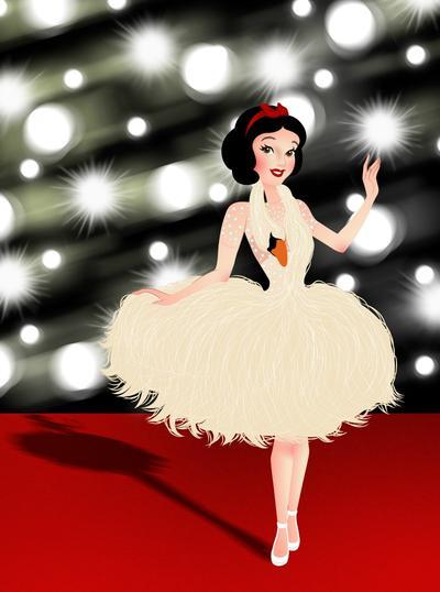 4 Disney Princess dalam Red Carpet Dress Ala Aktris Hollywood