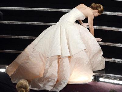 Merida Memerankan Jennifer Lawrence pada Ajang Piala Oscars Tahun 2013