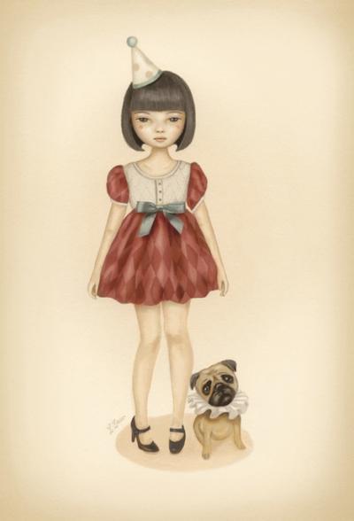Ilustrasi Art Cantik Karya Leav Lang.
