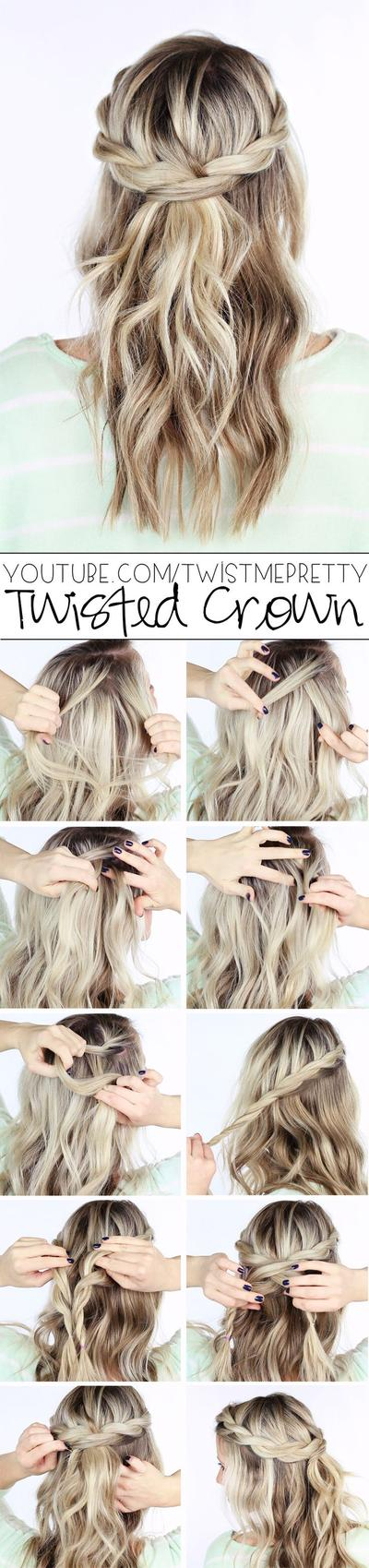 Twisted Crown Braided Style