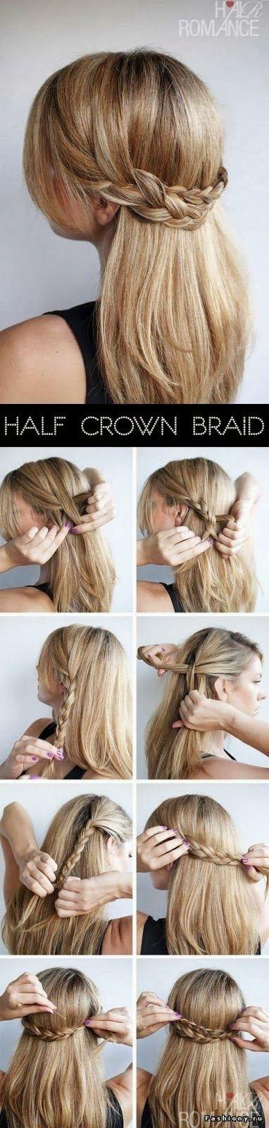 Half Crown Braid Style