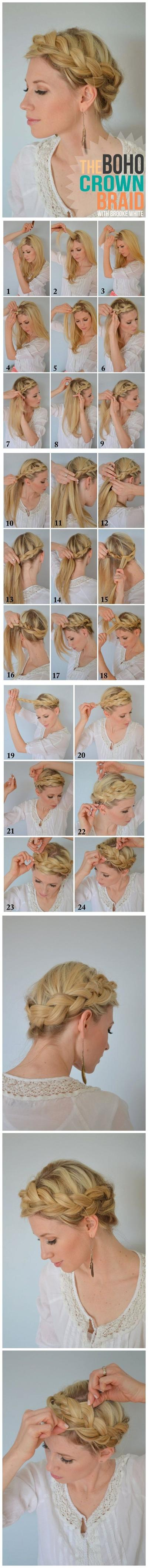 Boho Crown Braided Style