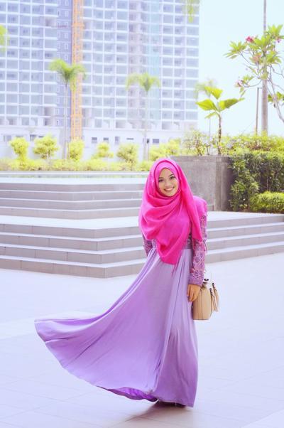 Sweet Purple Flare Skirt