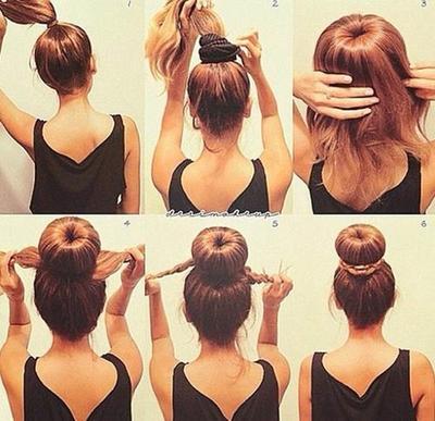 1. Donut Hair Bun Style