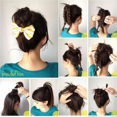 5. Easy Braided Bun