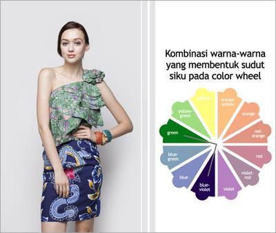 2. Kombinasikan Warna-Warna yang Membentuk Sudut 90 Derajat pada Color Wheel