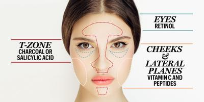 1. Perawatan yang Berbeda untuk Wajah
