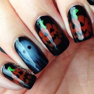 Ide Nail Art Unik Bertema Halloween