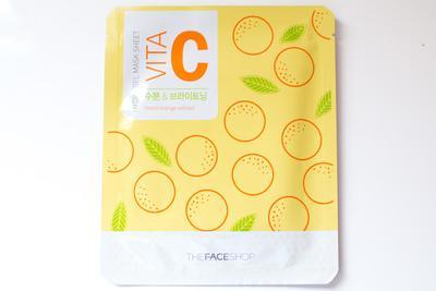 2. The Face Shop Hydro Gel Mask Sheet Vita C