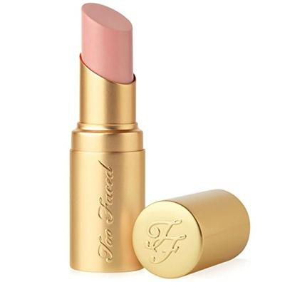 14. Too Faced La Creme Color Drenched Lipstick Nude Beach