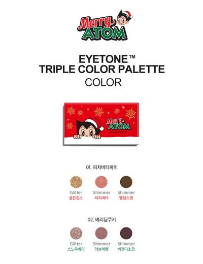 TonyMoly Merry Atom Ayetone Triple Color Palette