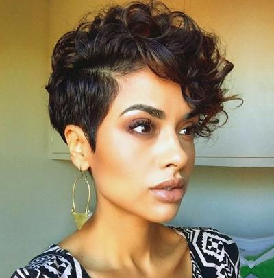 2. Curls on Top