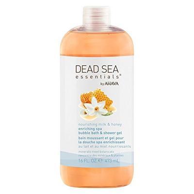 3. Dead Sea Essentials by AHAVA Nourishing Milk & Honey Spa Bubble Bath & Shower Gel