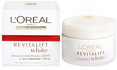 4. L'oreal Revitalift White Day SPF 18