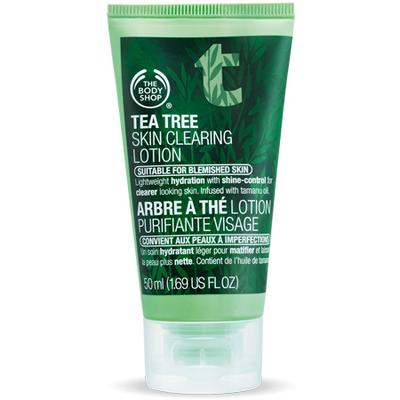 4. 	The Body Shop Tea Tree Skin Clearing Lotion