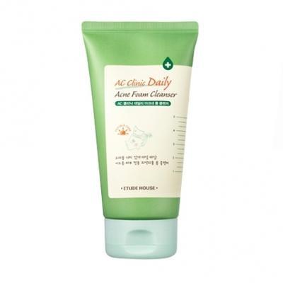 2. Etude House AC Clinic Daily Acne Foam Cleanser