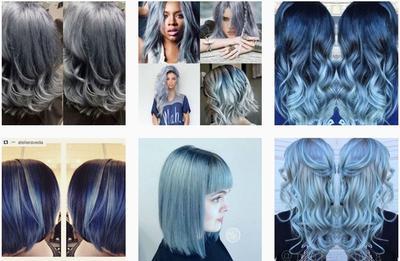 Cantik & Modern Dengan Warna Rambut Denim
