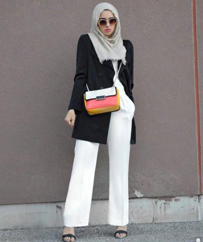 Tampil Percaya Diri Hadapi Interview Dengan Gaya Hijab Black   White ... 6c1145a128