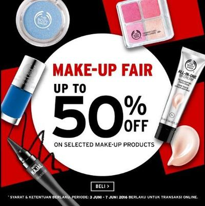 Diskon Produk Makeup The Body Shop UP TO 50%OFF!