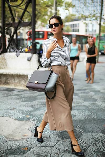 Padu Padan Cantik Celana Kulot Fashion Beautynesia