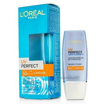 1. L'Oreal Paris UV Perfect Aqua Essence Advanced Watery Gel SPF 50