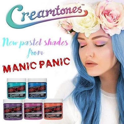 Rambut Warna Pastel dengan Manic Panic Creamtone Collection