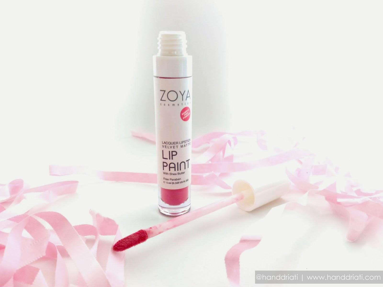 Review Zoya Lacquer Velvet Matte Lip Paint With Shea Butter Cosmetics Beautynesia