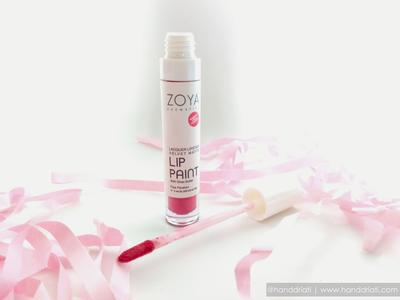 Review : Zoya Lacquer Velvet Matte Lip Paint with Shea Butter