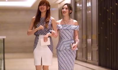 Tampil Modis dan Classy dengan Dress Batik Modern ala Elle & Jess