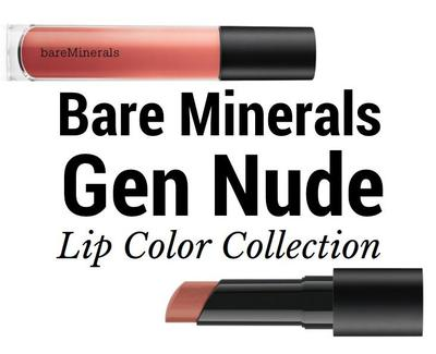 Review BareMinerals Gen Nude Lip Colour Collection