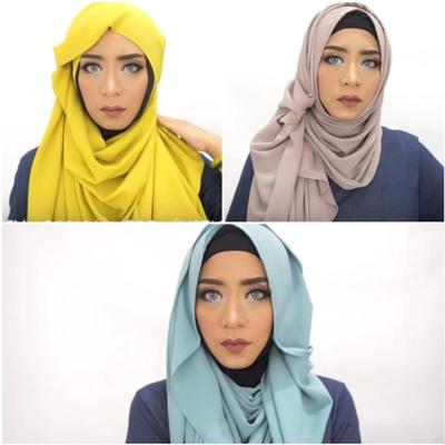 3 Tutorial Hijab Syar'i Fashionable dengan Pashmina